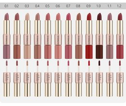$enCountryForm.capitalKeyWord Australia - O.TWO.O Beauty Makeup Lipstick 12 Colors Double-head Matte Lipstick Lip Gloss Lips Makeup Waterproof Long-lasting Lip Gloss