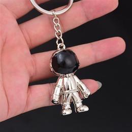 $enCountryForm.capitalKeyWord Australia - Space robot keychain high-end car men's metal waist hanging key pendant creative custom key ring