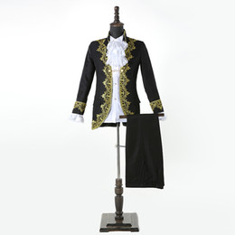 Court Suit Australia - 2019 European Style Men's Red Black White Suits New Royal Themed Costumes Court Gowns Prince Romeo Costumes
