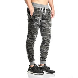 Wholesale men leggings for sale – dress Camouflage Pants Men Fitness Clothing Workout Long Pant Elastic Waist Leggings Quickly Dry Trousers Mens Streetwear
