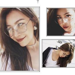 metal myopia frame 2019 - New Designer Woman Glasses Frame Metal Glasses Frame Transparent Lens Myopia Eyewear Women Men Spectacle Frames Optical