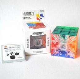 wholesale puzzles Australia - Original Ultra Smooth Stickerless Transparent Magic Cube Crystal 3x3x3 No Sticker Speed Puzzle Game Twist Kids children Toy Gift 5.7*5.7cm