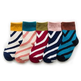 Cotton Children Socks Boy UK - New stripe Children Socks dots Athletic Kids Socks cotton Casual student Socks Fashion Kids Sock best boys Ankle Sock Girls Sock A4709