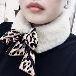 Fur Scarf Wholesaler Australia - 10x105cm Women's Winter Fake Faux Fur Scarf Leopard Print Wrap Collar D19011004