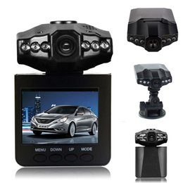China H198 Car DVR camera recorder H98 6 IR LED mount and 90 degree view angle ,270 degree screen rotated Drop Shipping cheap camera rotating screen suppliers
