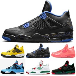 c8be2f0aaf51 2019 New Bred 4s Men Basketball Shoes 4 Pale Citron Pizzeria Hot Punch  Lightning LASER Oreo Singles Day Tattoo Retro Sports Sneakers 7-13
