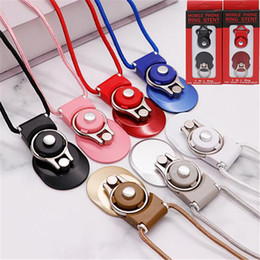 cell phone lanyard neck strap Canada - Cell Phone Lanyard Straps Charms 2 in 1 Detachable Rotating Mobile Phone Rope Hanging Neck Ring-type Dual-purpose With Retail Box