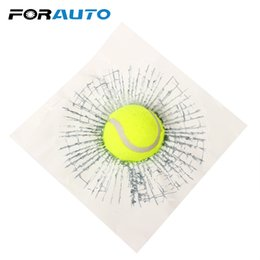Funny car window accessories online shopping - FORAUTO D Car Stickers Ball Hits Car Body Baseball Tennis Football Accessories Auto Decals Window Sticker Funny Styling