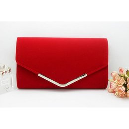 simple clutches for women NZ - Fashion Simple Envelope Clutch Bag Plush Metal Elegant Chains Hand Bags Single Shoulder Bag For Women Dinner Wedding Clutches Y190627