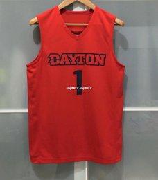 $enCountryForm.capitalKeyWord Australia - Cheap wholesale DAYTON FLYERS #1 NCAA MENS BASKETBALL GAME JERSEY RED T-shirt vest Stitched Basketball jerseys Ncaa