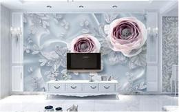 $enCountryForm.capitalKeyWord NZ - Ramadan Decoration Silk Lace Flower Wallpaper 3d Stereoscopic Living Room Home Wall Decor Wallpaper for Walls 3 d Custom Size