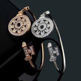 $enCountryForm.capitalKeyWord Australia - brand name Titanium steel Men and women Love bracelets with full CZ diamond silver rose gold bangle Bracelet for lovers Jewelry