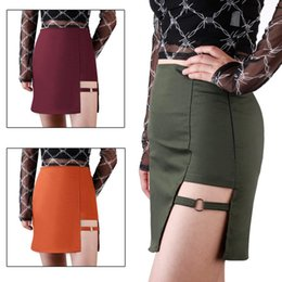 Korean irregular sKirt online shopping - Korean Style Red Package Hip Skirts Irregular Hem Pencil Micro Mini Skirt Sexy Slim Women Bodycon Party Skirts Olive Orange