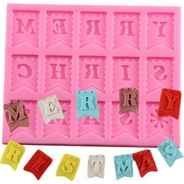 $enCountryForm.capitalKeyWord Australia - Merry Christmas Letter Form Silicone Mold Chocolate Fondant Cake Decorating Tools Cupcake Mould Kitchen Baking Tools