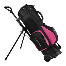 Wholesale Golf Bag Travel Wheel Standard Stand Golf Cart Bag Professional Set Hold Clubs Standard Ball Travel Trolley Bags D0648
