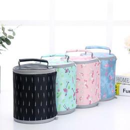 $enCountryForm.capitalKeyWord NZ - 4 Colors 17*20cm Barrel Totes Unicorn Insaluted Lunch Box Dinner Plate Sets Handbags Travel Gadgets Closet Organizer
