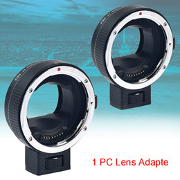 $enCountryForm.capitalKeyWord Australia - Durable Professional Auto Metal Mount Black Ring Camera Accessories Photography Lens Adapter For Canon EF To For NEX