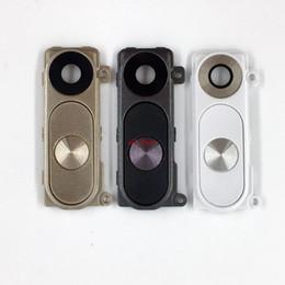 Lg G3 Back Cases Australia - For LG G3 Rear Back Camera Glass Lens Cover + Frame Holder + Power Volume Button Set Assembly Repair