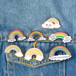 rainbow brooches Australia - Designer brooches brooch enamel pins women men broach Rainbow Cloud broches children kids broche Luxury Jewelry fashion accessories