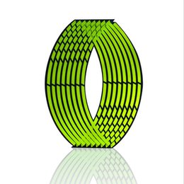 China motorcycle sticker new arrival PVC 10 12 14 18 inches laser wheel rim tape for motorcycle and car reflective 16 stripes supplier reflective motorcycle wheel stickers suppliers