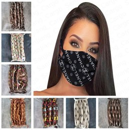 luxury face mask fashion print designer mouth masks women girls outdoor cycling breathable mouth-muffle Adult reusable washable masks E41102 on Sale