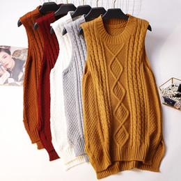$enCountryForm.capitalKeyWord Australia - New Women Knitted Vest Coat Autumn Winter Loose Sweater Waistcoat Students Girls Sleeveless Jacket Tops Female Long Vest 1518