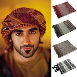 Scarf hoopS online shopping - Muslim testa entangled head hoop men s generous turban shawl Arab Afghan worship cotton