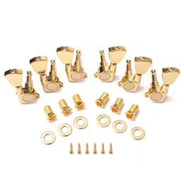 Acoustic Guitar Tuner Keys Australia - 6PC Gold Locked String Tuning Pegs keys Tuners Machine Heads for Acoustic Guitar