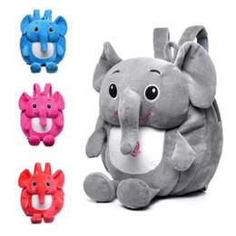 Small pocket lightS online shopping - Baby Elephant Plush Backpack Kids Cartoon Stuffed Doll Soft Children Backpack Mochila Kindergarten School Bags OOA6516