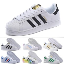 $enCountryForm.capitalKeyWord NZ - 2018 Cheap Women Superstar White Hologram Iridescent Junior Pride Sneakers Super Star Speed Trainer Men Casual leather Shoes 36-44