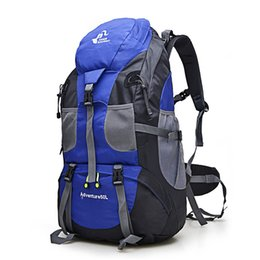 Discount mountaineering climbing backpack - Hot Sale 50L Outdoor Backpack Camping Bag Waterproof Mountaineering Hiking Backpacks Molle Sport Bag Climbing Rucksack