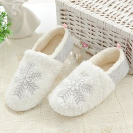 $enCountryForm.capitalKeyWord Australia - Fall and Winter Christmas Snowflake Plush Thermal Pack and Cotton Slippers Indoor Home Shoes and Slippers