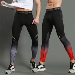 Gold Tight Leggings Australia - Mens Gym Compression Leggings Sport Training Pants Men Running Tights Trousers Men Sportswear Dry Fit Jogging Pants X Task Force