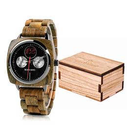 6b7508ec9cc Relogio masculino BOBO PÁSSARO Relógio Dos Homens Relógios De Madeira  Elegante Militar Relógios De Quartzo em Caixa De Presente de madeira erkek  kol saati ...