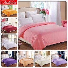 $enCountryForm.capitalKeyWord Australia - 1 piece Duvet Cover Plain Pure Color Soft Cotton Bedding Bag Pink Adult Kids Girl Quilt Comforter Case 150x200 180x200cm