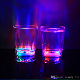 concert glasses Australia - dhl Glowing wine Glasses Mini Luminous Flash light LED Glass Small Colorful KTV concert bar special Drinkware Flashing coffer mugs
