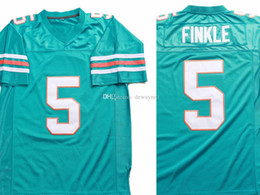 Wholesale movies football for sale – custom Ray Finkle Ace Ventura Pet Detective Movie Men s Football Jersey Film All Stitched Teal Color