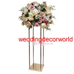 Flowers Window Display UK - The new wedding flower road height window display rack European metal flower wearing wedding main table decoration furnishing articles decor