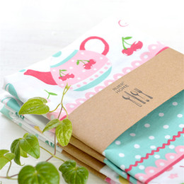 $enCountryForm.capitalKeyWord NZ - 5pcs Nordic style pure cotton napkin cloth, tea towel, wine cup towel printed design and color cloth, western table mat