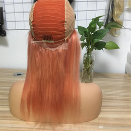 $enCountryForm.capitalKeyWord Australia - Colorful Human Hair Wig Pre Plucked With Baby Hair Brazilian Remy Lace Frontal Wigs 130% Density Average Size Long Hair HCDIVA 10-24 inch