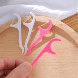 $enCountryForm.capitalKeyWord Australia - Plastic Dental Floss Stick Toothpick Sticks For Oral Health Tooth Cleaning Tools Set Floss Stick 25pcs set Dental Cotton Floss LXL161