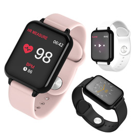 iphone compatible smart watches Australia - Men Women Smart Watch B57 Bracelet Waterproof Sports Smartwatches for iPhone Wristbands Heart Rate Monitor Blood Pressure Functions