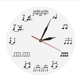 $enCountryForm.capitalKeyWord UK - 1Piece Drum Notes Rudiments Wall Clock Acrylic Time Clock Music Notes Wall Art Home Decor Handmade Gift For Music Lover Musician