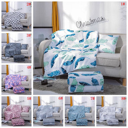 Creative Multifunction Air Conditioning Comforters Quilt Foldable Pillow Quilt Summer Printed Fashion Blanket Wrap Gift Customize DBC VT0358 on Sale