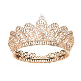 China 2019 Women Rhinestone Zircon Queen Bride Crown and Tiaras Bridal Diadem Wedding Party Headpiece Hair Jewelry Ornaments supplier crown diadem suppliers