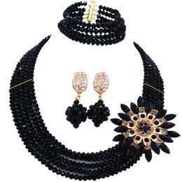 $enCountryForm.capitalKeyWord NZ - wholesale Classic Fashion Nigeria Wedding Africa Beads Jewelry Set Beige Necklace Bracelet Bridal Jewelry Sets MH-06
