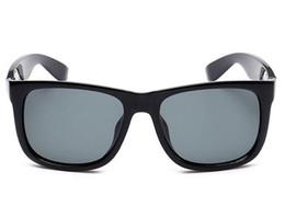 Discount womens black cat eye sunglasses - Fashion Classic Sunglasses Vintage Men Womens Justin Sun Glasses Brand Designer Mirrored Gafas de sol Plank Eyeglasses w