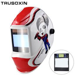 Capteur d'arc intelligent pour grande fenêtre 4 Masque de soudage TIG MIG MIG à assombrissement automatique solaire TIG MIG / casque / capuchon de soudeur / lentille / masque facial