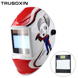 Mask auto solar online shopping - Smart Large Window Arc Sensor DIN5 DIN13 Solar Auto Darkening TIG MIG MMA Welding Mask Helmet Welder Cap Lens Face Mask
