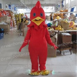 white chicken costumes 2019 - White Cock Mascot Costume Anime Theme Carnival Halloween Cartoon Red Rooster Chicken Costume Character Christmas Party S